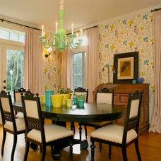 Farmhouse Dining Room by Alison Kandler Interior Design