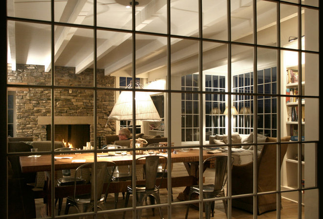 Farmhouse Dining Room by Pursley Dixon Architecture