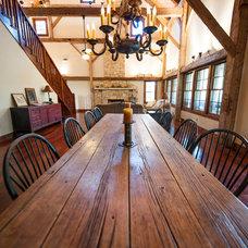 Farmhouse Dining Room by HeritageBarns.com