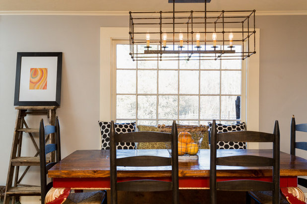 Farmhouse Dining Room by New England Design Elements