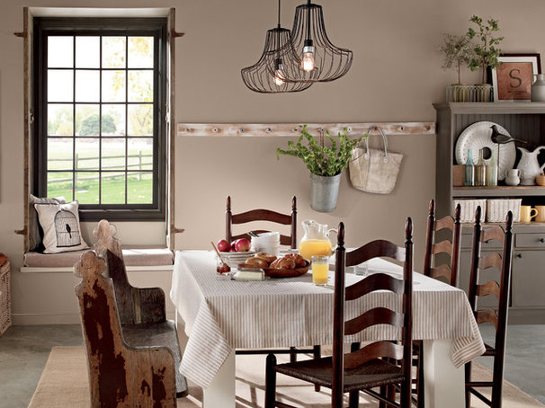 Rustic Dining Room by BEHR®