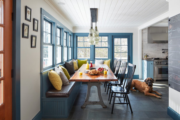 Transitional Dining Room by Covenant LLC