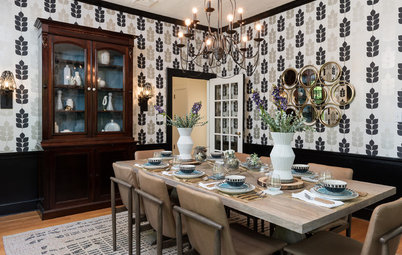 Daring Face-Lift for a Traditional Dining Room