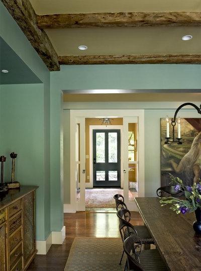 Farmhouse Dining Room by Smith & Vansant Architects PC
