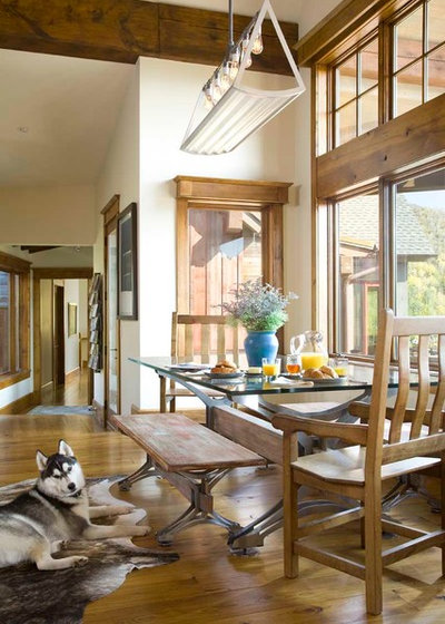 Rustic Dining Room by Studio 80 Interior Design