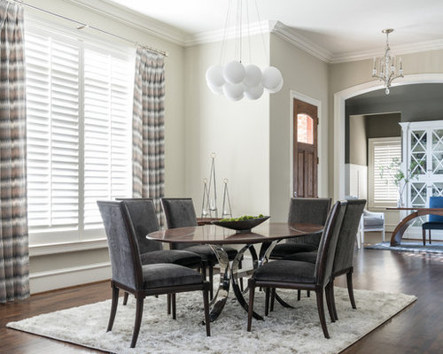 Mid Sized Transitional Kitchen Dining Room Combo Photo In Dallas With Beige Walls