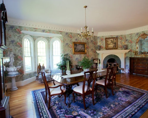 3 formal great room with a corner fireplace design ideas for Traditional dining room fireplace