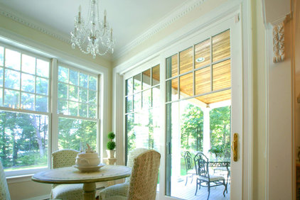 traditional dining room by Cummings Architects, LLC.