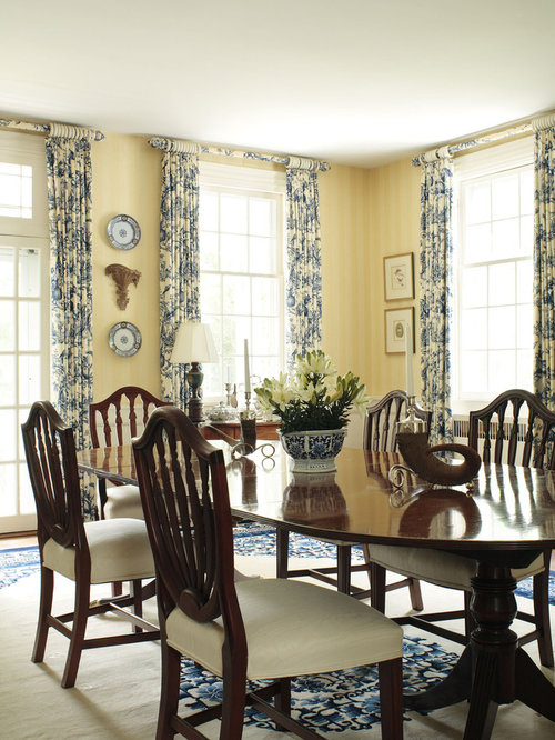 Inspiration For A Timeless Dining Room Remodel In Other With Yellow Walls