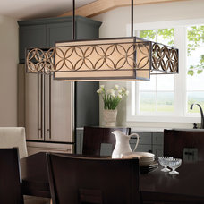 Midcentury Dining Room by Littman Bros Lighting