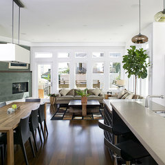 modern dining room by Feldman Architecture, Inc.