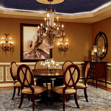 Traditional Dining Room by Paula Grace Designs, Inc.