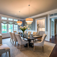 Transitional Dining Room by Studio M Interiors