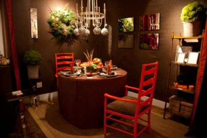 Eclectic Dining Room by Olga Adler