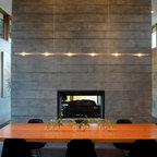 Fieldstone house contemporaneo sala da pranzo for Sala milwaukee