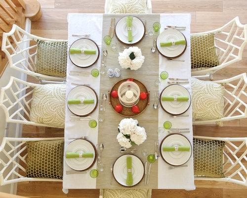 elegant dinner table setting | houzz