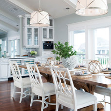 Beach Style Dining Room by Amy Tyndall Design