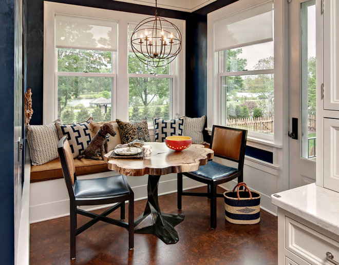Transitional Dining Room by Filament Lighting & Home