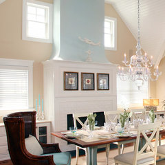 traditional dining room by Asher Associates Architects