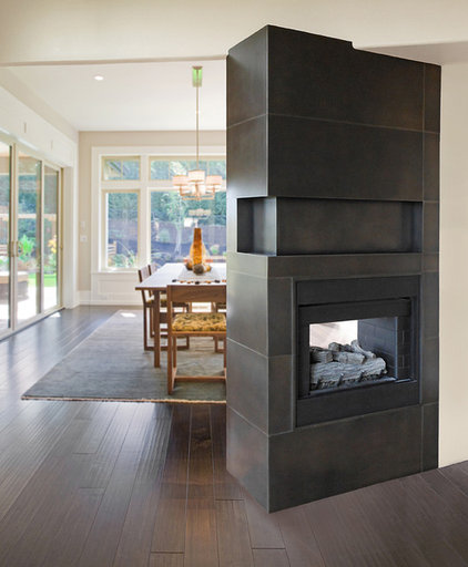 Indoor Fireplaces by Raw Urth Designs