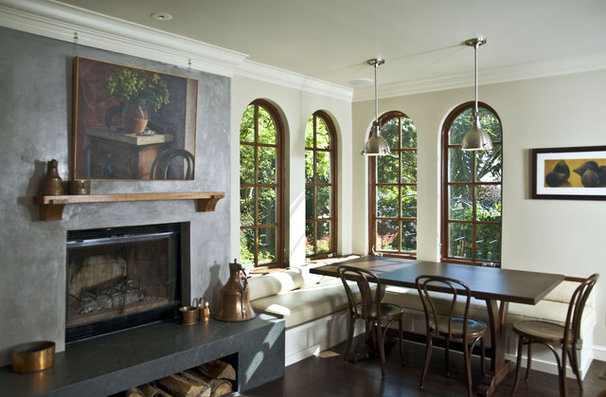 Mediterranean Dining Room by Mueller Nicholls Cabinets and Construction