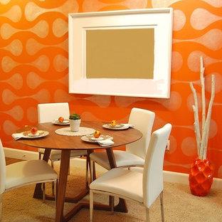 Dining room - small modern dining room idea in Denver