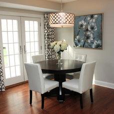 Transitional Dining Room by Lark Interior Design