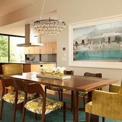 modern dining room by Chris Barrett Design