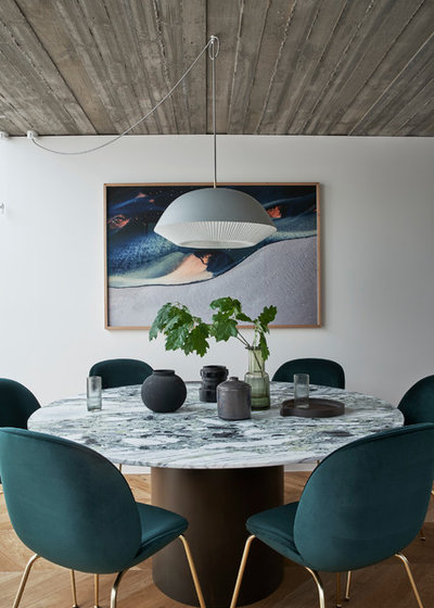 Contemporary Dining Room by Taylor Knights