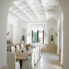 Mediterranean Dining Room by Jarosz Architect, P.A.