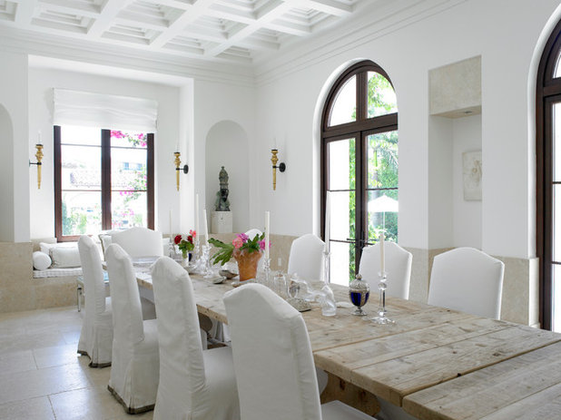 Rustic Dining Room by Jarosz Architect, P.A.