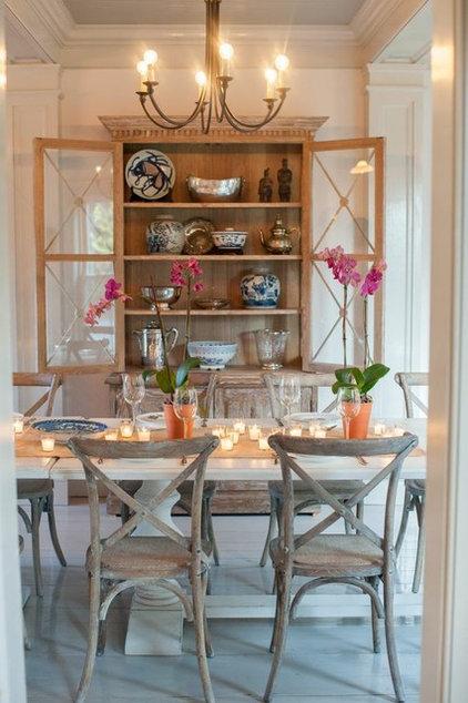 farmhouse dining room by nastasi vail design