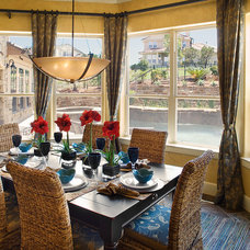 Mediterranean Dining Room by Infinity Design, Inc.