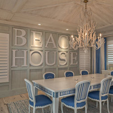 Beach Style Dining Room by Village Architects AIA, Inc.