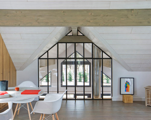 Plafond en lambris blanc photos et id es d co - Lambris bois plafond grande largeur ...