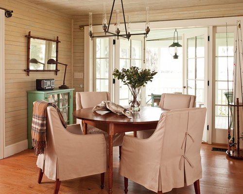 Inspiration For A Timeless Medium Tone Wood Floor Dining Room Remodel In Atlanta