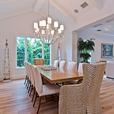 Transitional Dining Room by Clive Daniel Home