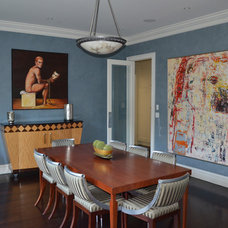 Eclectic Dining Room by Grasso Development Corp