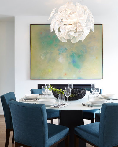 Contemporary Dining Room by Designtheory Inc.