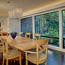 Contemporary Dining Room by McClellan Architects