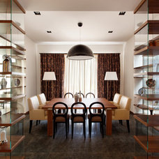 Eclectic Dining Room by Roman Leonidov