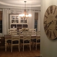 Farmhouse Dining Room by Designs by Jenna