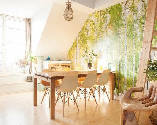 Inspiration For A Scandinavian Light Wood Floor And Beige Floor Great Room  Remodel In Chicago With
