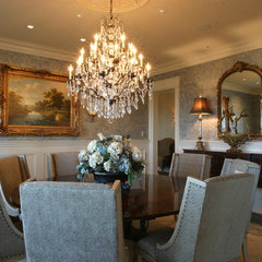 traditional dining room by Fowler Interiors