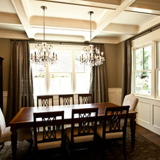 Transitional Dining Room by Ridgewater Homes Inc