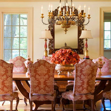 Mediterranean Dining Room by Chambers Interiors & Associates, Inc.