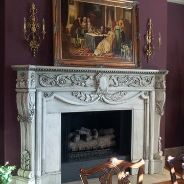 Formal Dining Room - Grand Fireplace Mantel