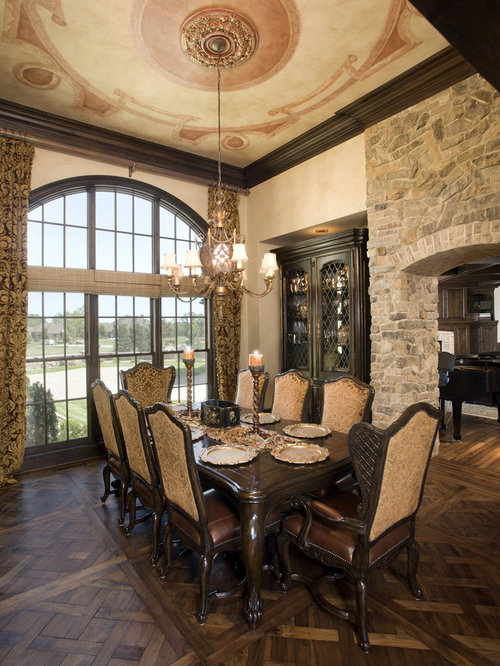 Faux stone wall home design ideas pictures remodel and decor for Italian dining room decorating ideas