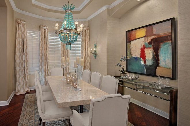 Transitional Dining Room by KDS Interiors, Inc.
