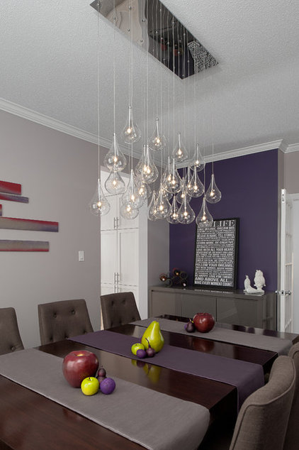Color feast when to use purple in the dining room for Laura boisvert design